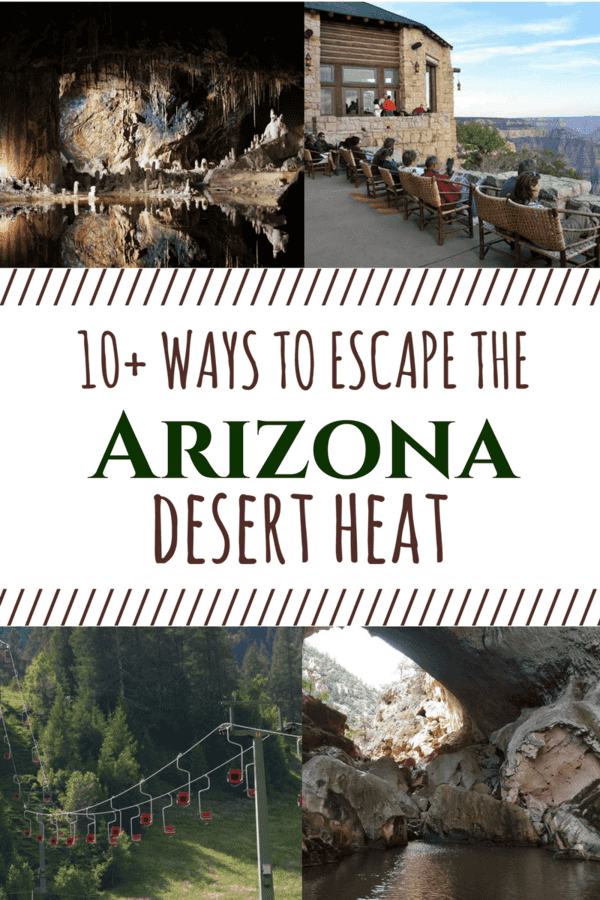 Escape the Arizona Heat with these fun, family friendly locations in the Phoenix area and beyond that'll help you cool off and escape the triple digits!