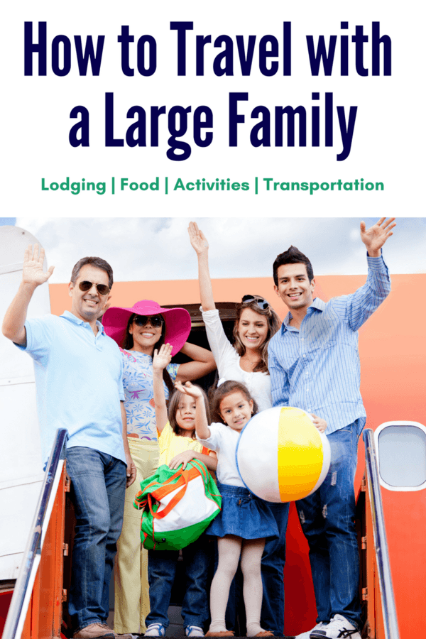 One of the areas that gets incredibly complicated as a family grows in size is traveling out of town - whether on a vacation or for family obligations.  Here are some tips for traveling economically with a large family.