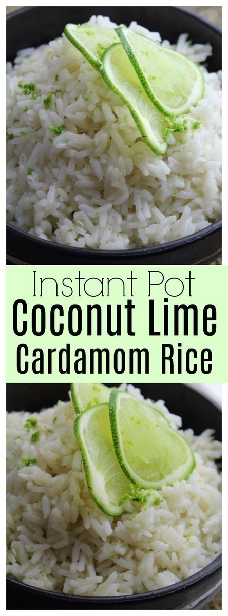 Instant Pot Coconut Lime Cardamom Rice | The CentsAble Shoppin