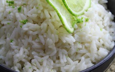 Instant Pot Coconut Lime Cardamom Rice