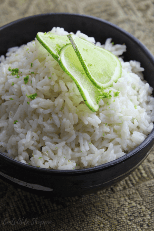 Savory coconut rice with a dash of cardamom made in mere minutes in your Instant Pot!