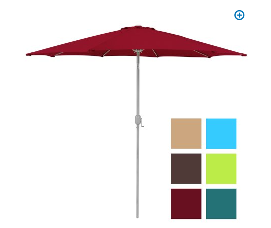 Head Over To Walmart And Pick Up The 9u2032 Patio Umbrella With Aluminum Pole  For Just $39.99 + FREE Shipping.