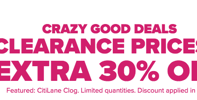 Crocs: Extra 30% OFF Clearance Prices