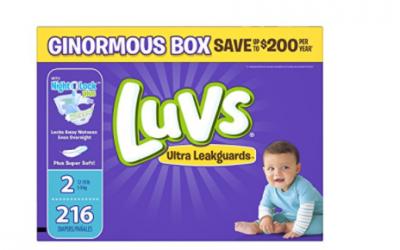Amazon: Luvs Diapers $.08 ea + FREE Shipping
