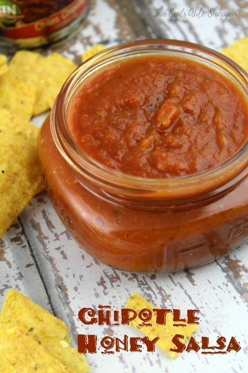 Tomatoes, honey and chipotles combine with garlic to make this salsa with a sweet kick - it's the perfect compliment to fish or veggie tacos, on eggs, or with tortilla chips.