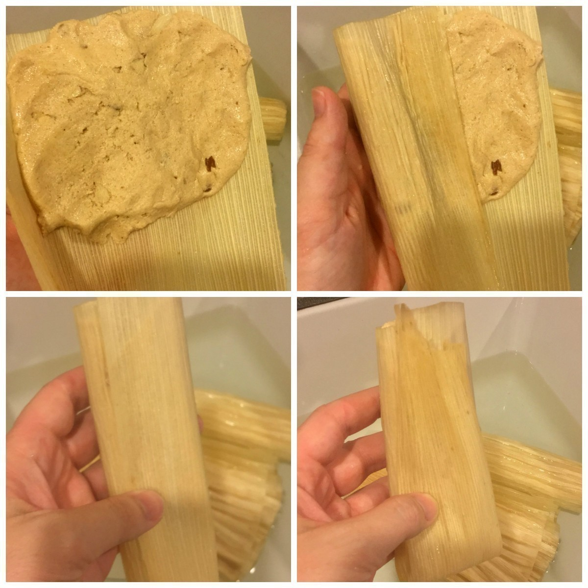 A change from traditional Mexican tamales, sweet tamales with cajeta combine brown sugar, cinnamon, and almonds or walnuts cooked in the Instant Pot and drizzled with cajeta and sprinkled with additional almonds.