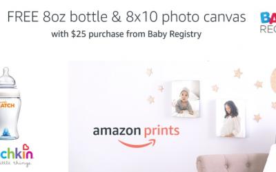 Amazon Baby Registry: FREE 8 oz Bottle and 8×10 Photo Canvas