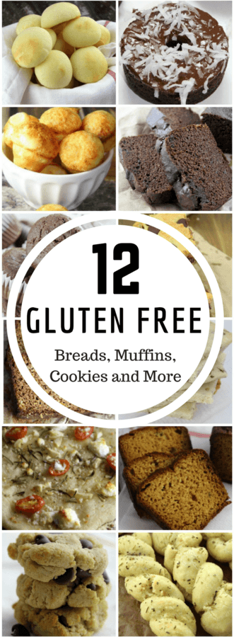 Are you gluten intolerant? Here are 12 gluten free breads, muffins, cookies, and snacks that you will LOVE! #glutenfree | #grainfree | #breads | #healthy | #snacks | #kids