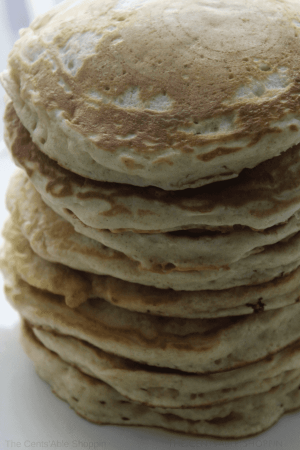 An easy homemade pancake mix that will allow you to whip up light and fluffy pancakes in a pinch!