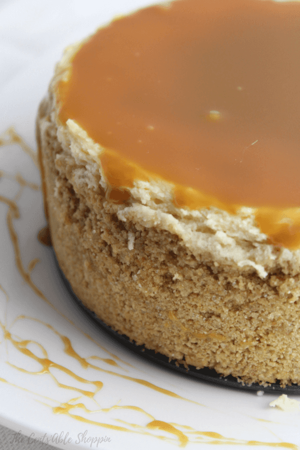 Creamy Instant Pot Dulce de Leche Cheesecake topped with a deliciously rich caramel sauce - oh my gosh, this is SO good!
