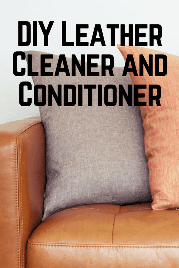 Protect your leather sofas and furniture with this easy DIY Leather Cleaner and Conditioner made with just a few simple household ingredients.