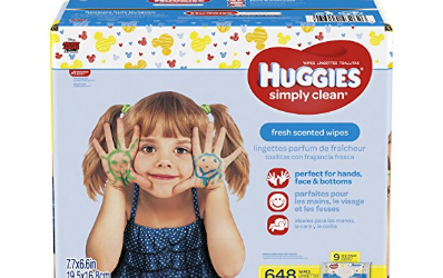 Amazon: Huggies Simply Clean Baby Wipes 648 ct just $12