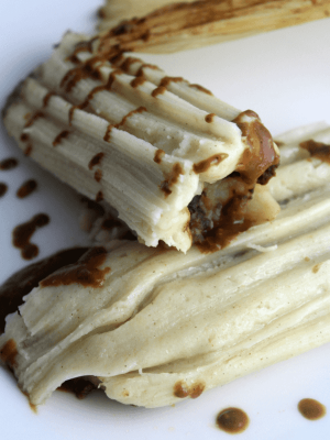 Meatless Tamales with Potato and Mole