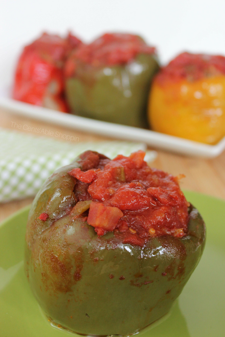 Easy Crock Pot Stuffed Peppers