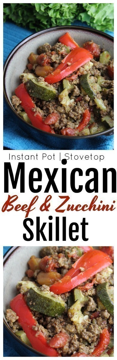 This Mexican Beef and Zucchini skillet is an easy weeknight meal made with simple ingredients that are sure to please even the pickiest of eaters.