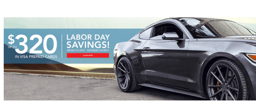 Discount Tire Labor Day Sale: Up to $320 in Rebates
