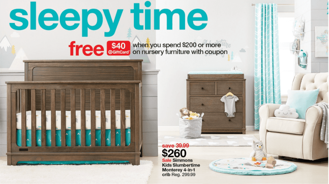 Target: $40 Gift Card with $200 Baby Nursery Furniture Purchase