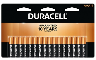 OfficeMax: Duracell AA or AAA 16 pk Batteries $.01