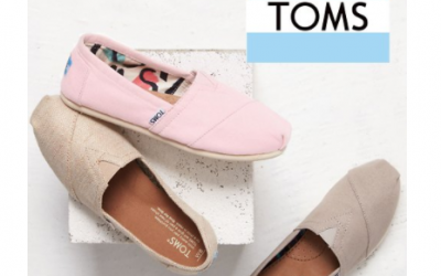 TOMS:  40% OFF + Additional 25% OFF + Shipping as low as FREE