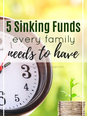 5 Important Sinking Funds