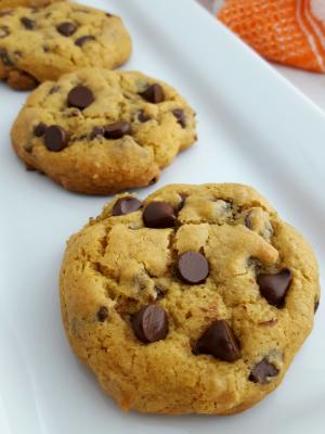 Chewy Gluten-free Pumpkin Chocolate Chip Cookies