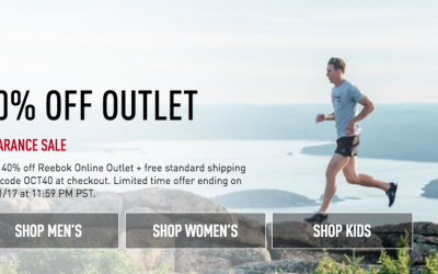 Reebok: 40% OFF Outlet Items + FREE Shipping