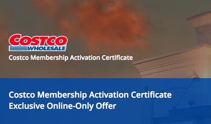 Costco Gold Membership + $20 Cash Card