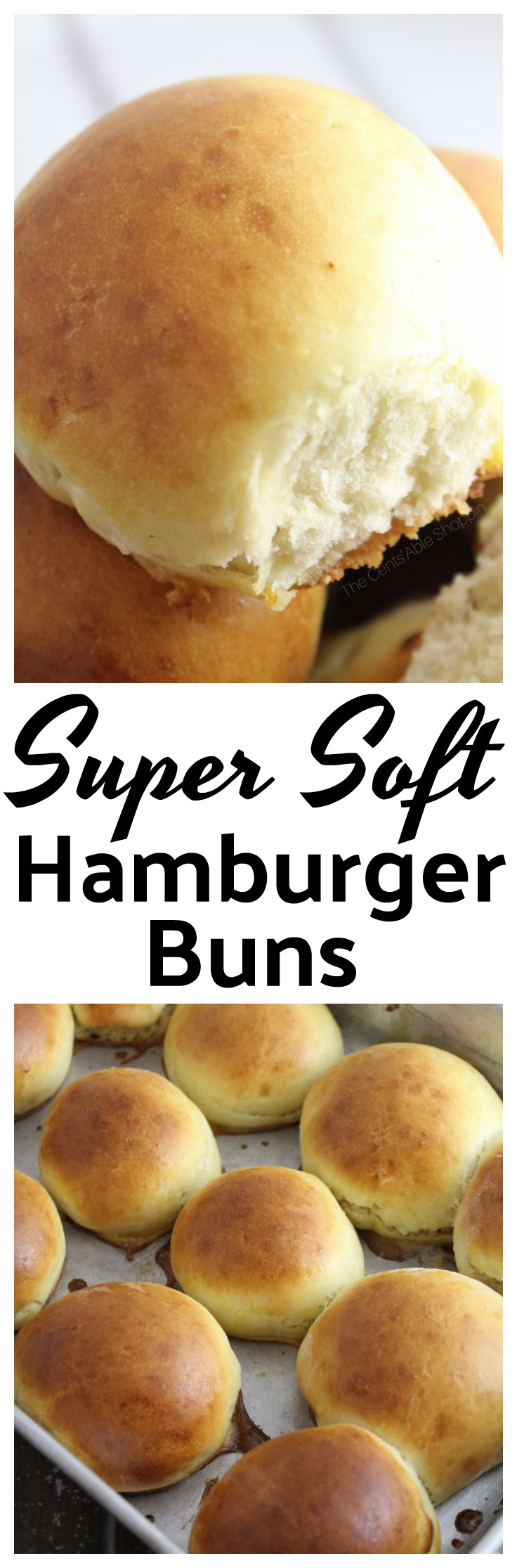 A foolproof recipe for soft homemade hamburger buns made in just 45 minutes! #bread #yeast #rolls