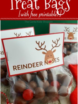 Reindeer Noses Treat Bags