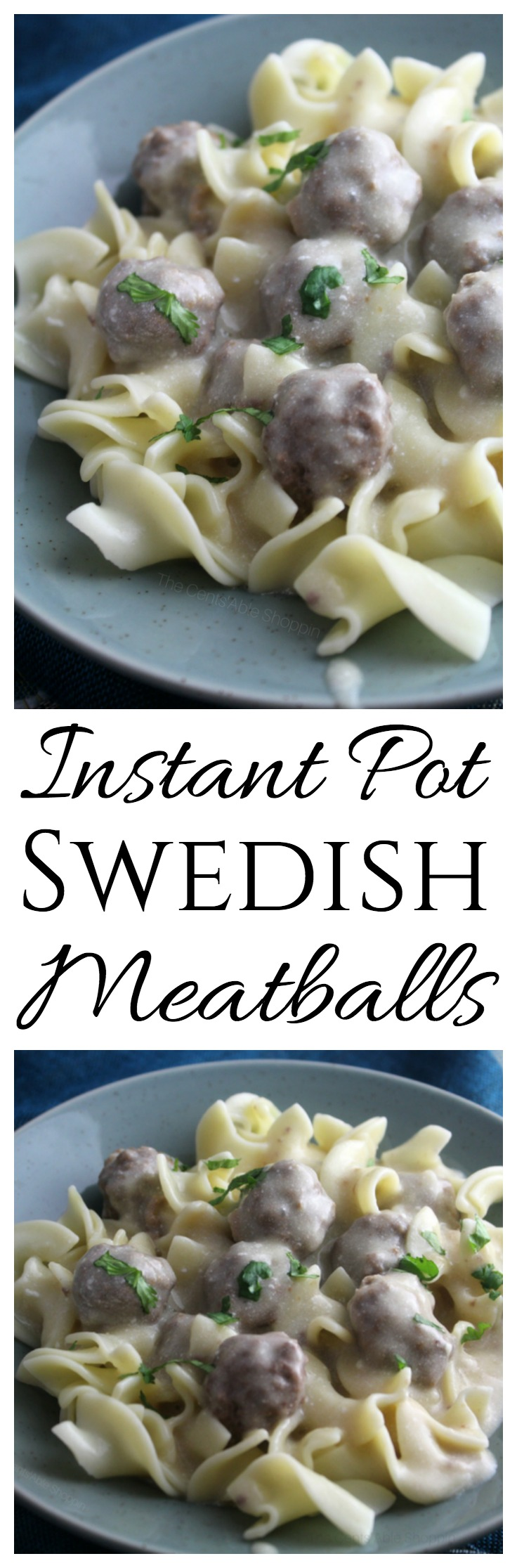 Nothing beats homemade meatballs smothered in a deliciously creamy sauce! This recipe for Swedish Meatballs is a family favorite -- whip it up in minutes using your Instant Pot! #InstantPot #beef #Meatballs