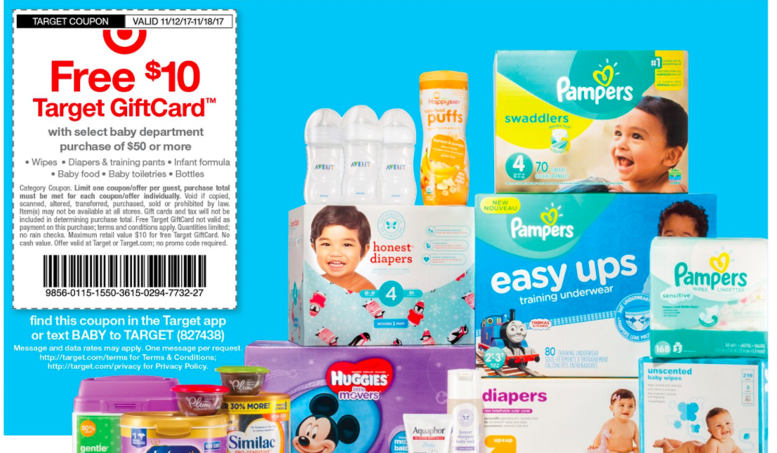 Target: $10 Gift Card with $50 Baby Purchase