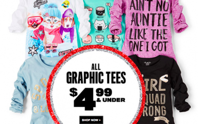 The Children's Place: Kids Graphic Tees $4.99 + FREE Shipping