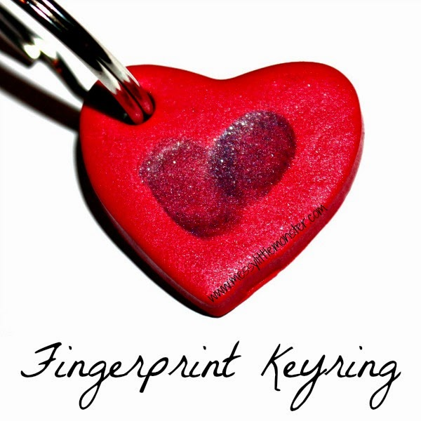 Fingerprint Keyring - Messy Little Monster