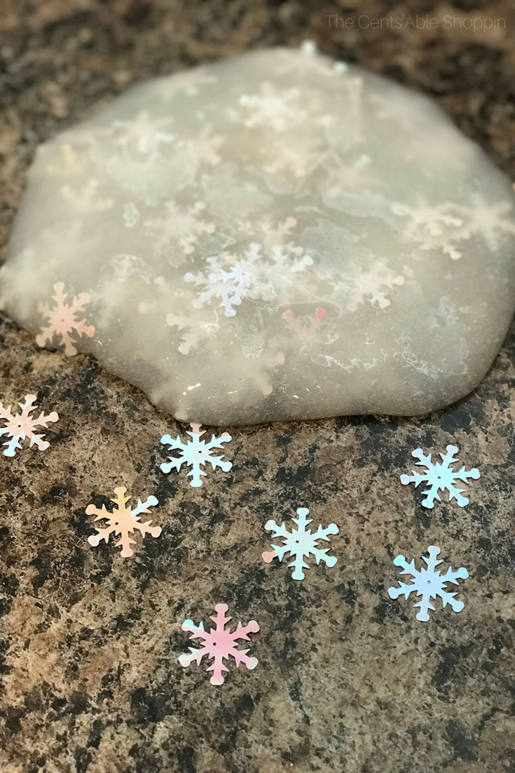 This winter snowflake slime project is the perfect activity to gather your kids and celebrate the season, and comes together in just a few simple minutes!