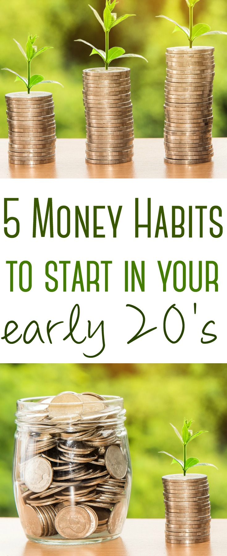 The patterns we set now will set the tone for success or failure later in life. Here are five money habits to start in your 20's.