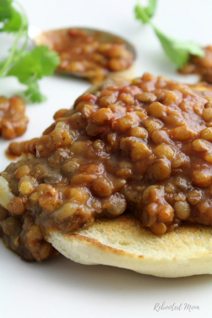 Barbecue Lentils (vegan, gluten-free and dairy-free) - Rebooted Mom