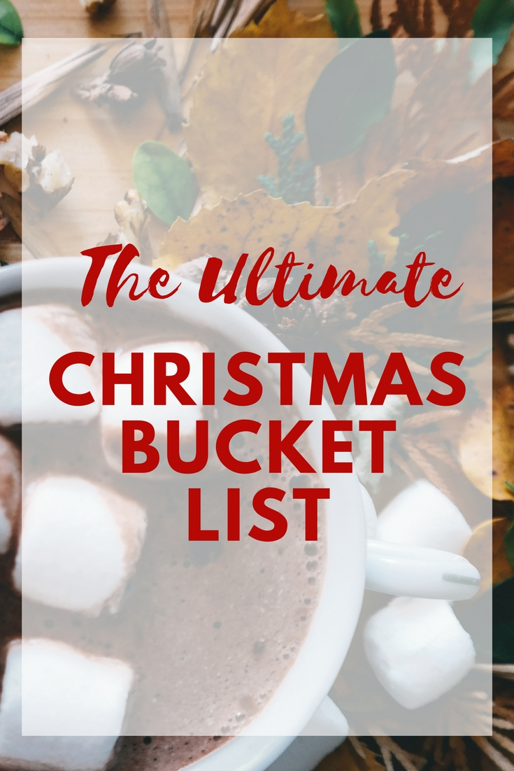 Many of us have spent months counting down the days until we can celebrate Christmas...  Make the most out of your Christmas season with our list of can't miss holiday activities.  Download or print a list of the best Christmas Bucket List activities to do with your family this holiday. #christmas #family #bucketlist