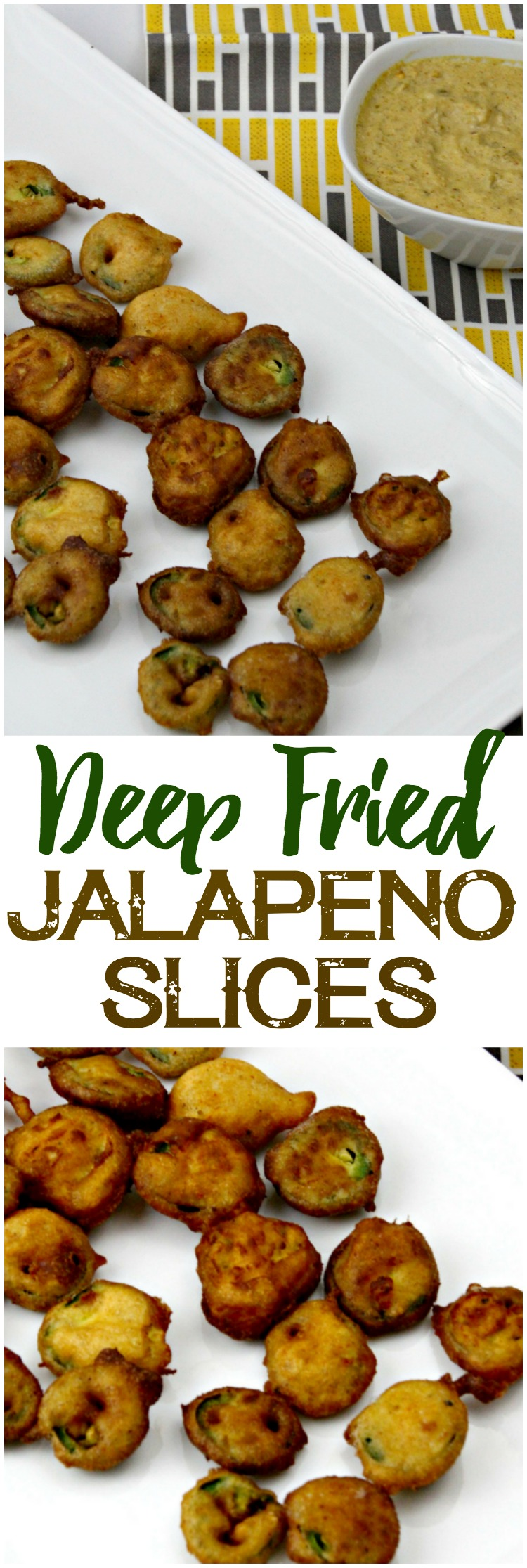 These deep fried jalapeño slices are surprisingly easy, yet sinfully addictive! Serve them up at your next party alongside melted cheese sauce. #jalapenos #appetizer #snack
