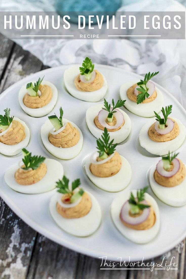 Hummus Deviled Eggs - This Worthey Life