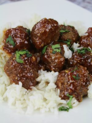 Garlic Honey Meatballs
