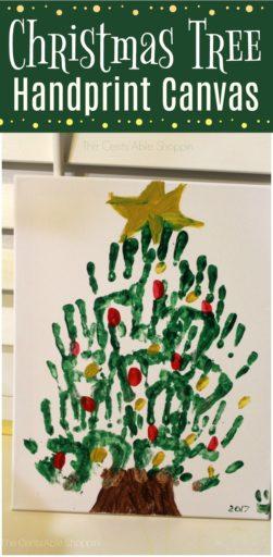 Christmas Tree Handprint Art