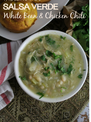 Salsa Verde White Bean Chicken Chili