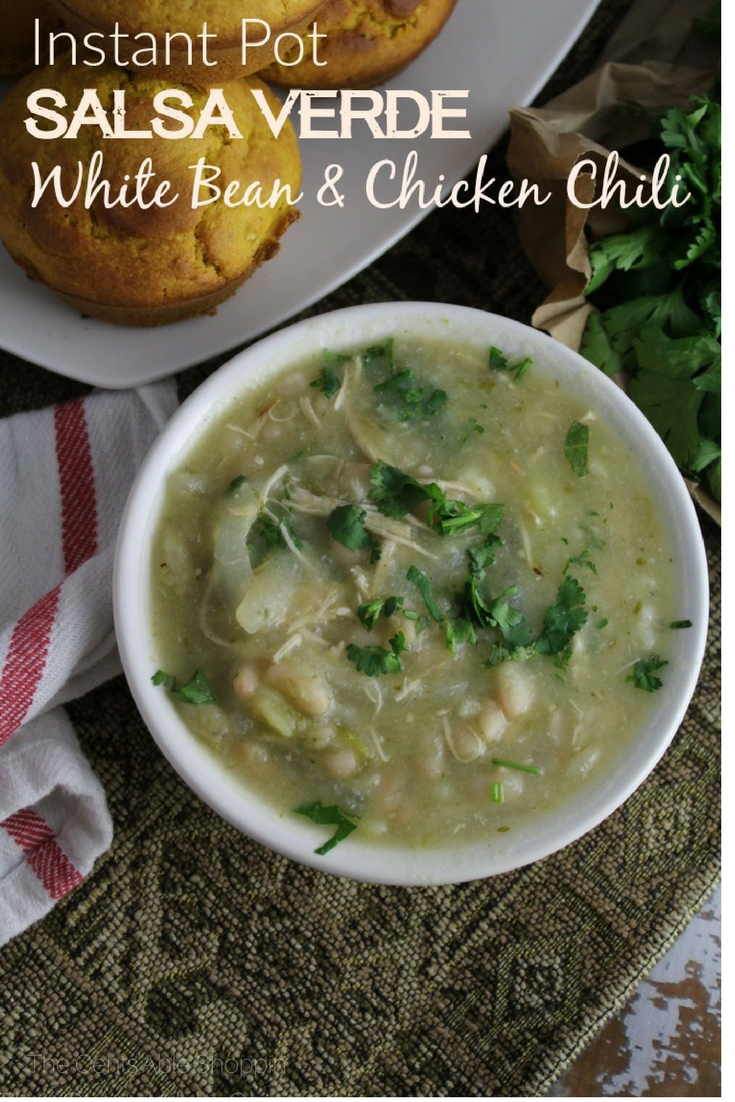 A kicked up Salsa Verde White Bean Chicken Chili that's rich in flavor, easy to make in our Instant Pot, and perfect for cold winter weather!