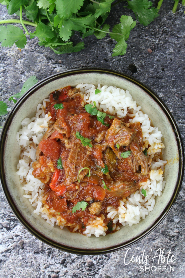 Ropa Vieja, a dish famous in Cuba and in some of the Caribbean, features thin strands of shredded beef in a rich and flavorful sauce of peppers, tomatoes, onions and spices.