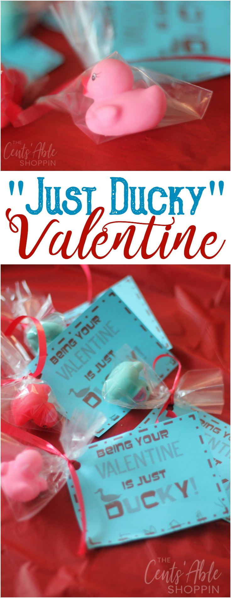This fun Rubber Ducky Valentine is an adorable non-candy alternative for kids of all ages to hand out this Valentine's Day!