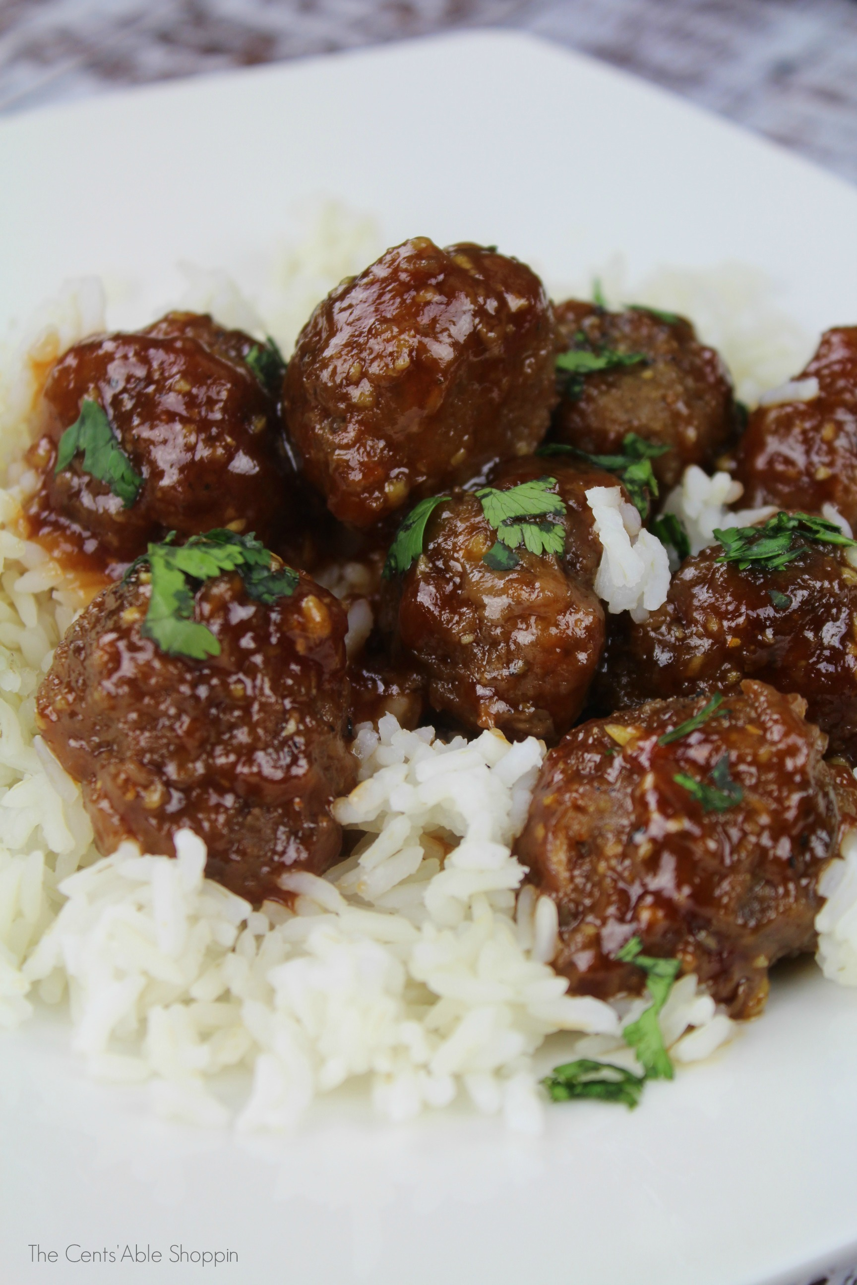 These Garlic Honey Meatballs are easy to whip up and are wrapped in a delectable sauce that's delicious over rice or served as an appetizer!