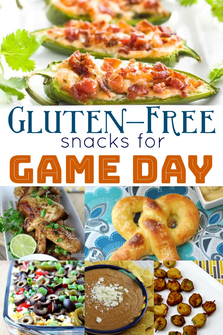 Get ready for the big game day with these easy to prepare Gluten-Free snacks and appetizers! #superbowl #appetizers #glutenfree #football #gamedayOver twenty simple yet delicious gluten-free snacks that are perfect to help you feed a crowd for the next big Super Bowl or game day!