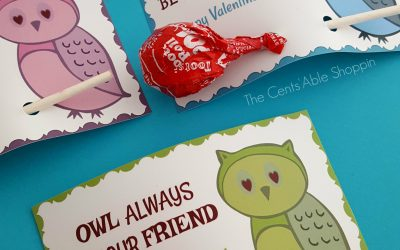 Owl Printable Valentine's Day Cards