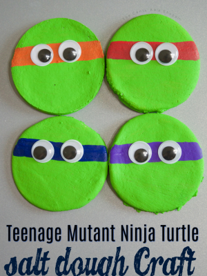 Teenage Mutant Ninja Turtle Salt Dough Project