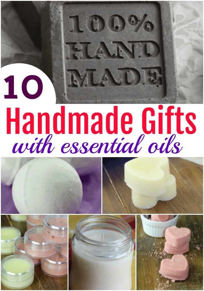 These handmade gifts with essential oils are simple to put together and perfect for teachers, friends, and even family for Valentine's, Mother's Day & more! #gifts #handmade #essentialoils #DIY #ValentinesDay #MothersDay #teacher